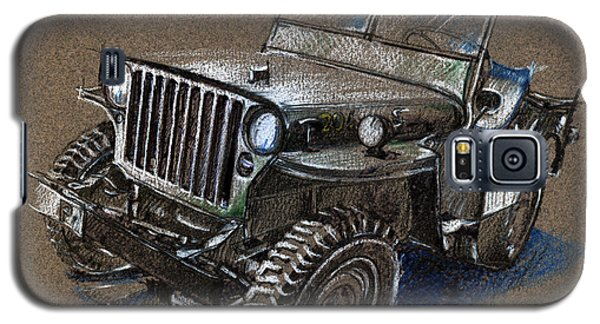 Willys Car Drawing Galaxy S5 Case