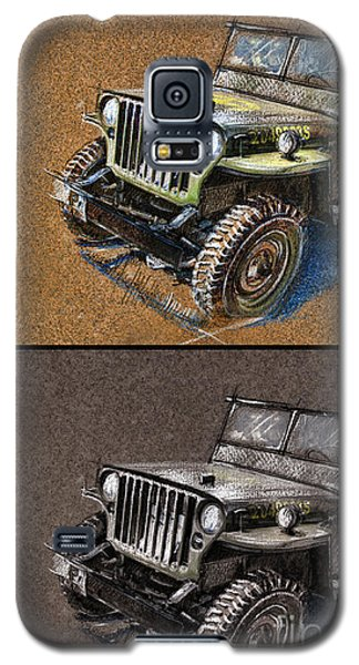 Willys Jeep Mb Car Drawing Galaxy S5 Case