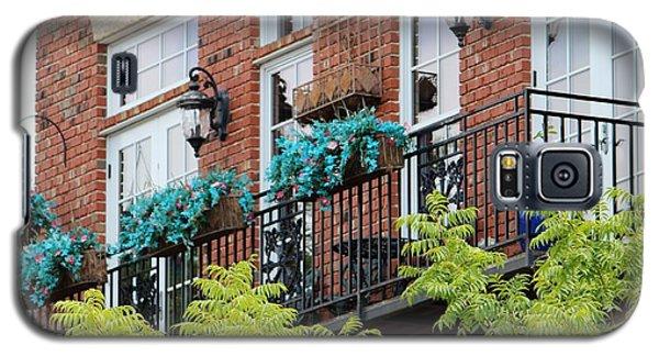 Blue Flowers On A Balcony  Galaxy S5 Case
