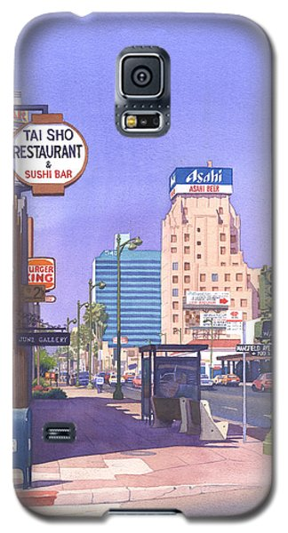 Wilshire Blvd At Mansfield Galaxy S5 Case by Mary Helmreich