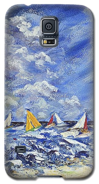 Galaxy S5 Case featuring the painting Wind And Sails by Kathleen Pio