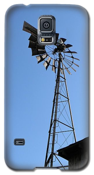 Galaxy S5 Case featuring the photograph Wind On The Farm by Jean Goodwin Brooks