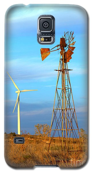 Wind Power  Then And Now Galaxy S5 Case by Jim McCain