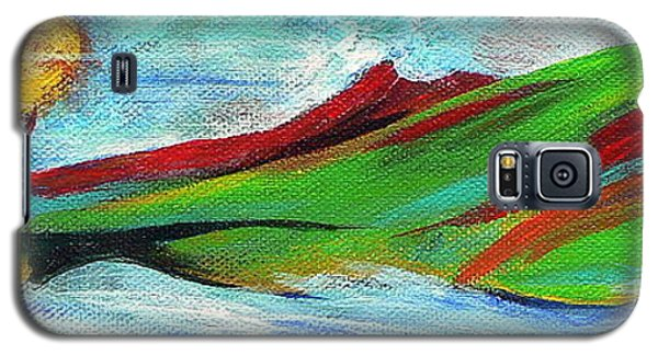 Galaxy S5 Case featuring the painting Windward by Elizabeth Fontaine-Barr