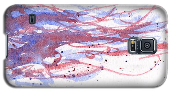 Galaxy S5 Case featuring the painting Windblown Joy by Rebecca Davis