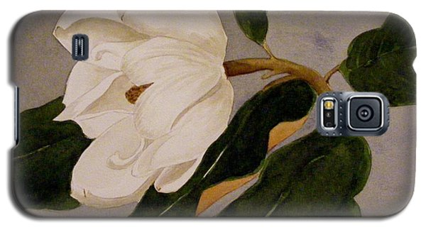 Galaxy S5 Case featuring the painting Windblown Magnolia by Nancy Kane Chapman