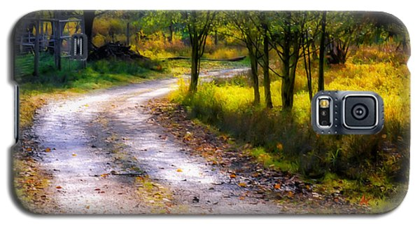 Winding Path In Autumn Galaxy S5 Case by Marion McCristall