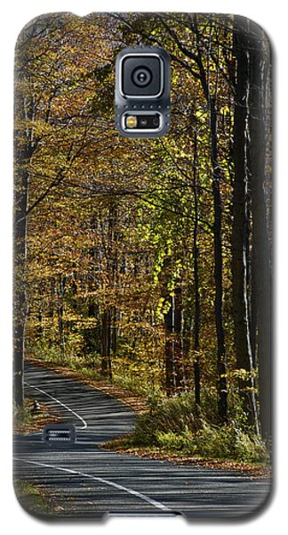 Winding Road In The Woods Galaxy S5 Case
