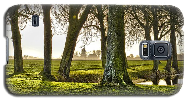 Windmill And Trees In Groningen Galaxy S5 Case by Frans Blok