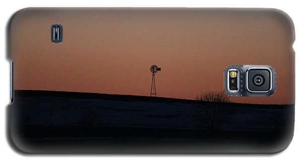 Windmill At Sunset Galaxy S5 Case