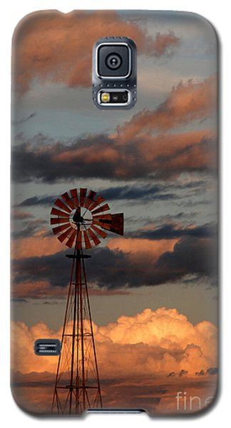 Windmill At Sunset V Galaxy S5 Case