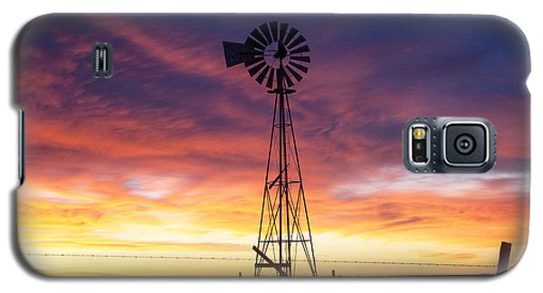 Galaxy S5 Case featuring the photograph Windmill Dressed Up by Shirley Heier