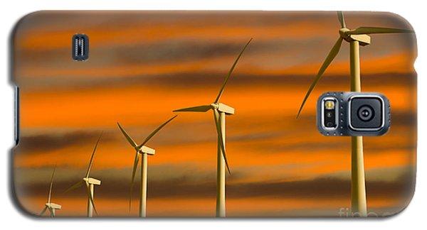 Windmill Farm Galaxy S5 Case