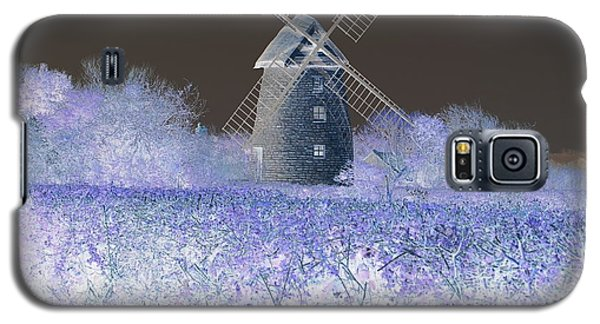 Galaxy S5 Case featuring the photograph Windmill In A Purple Haze by Linda Prewer