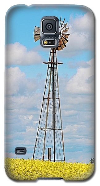 Windmill In Canola Field Galaxy S5 Case