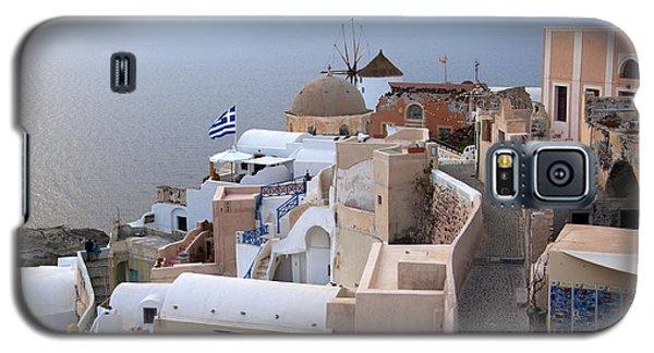 Windmill In Oia Santorini Galaxy S5 Case