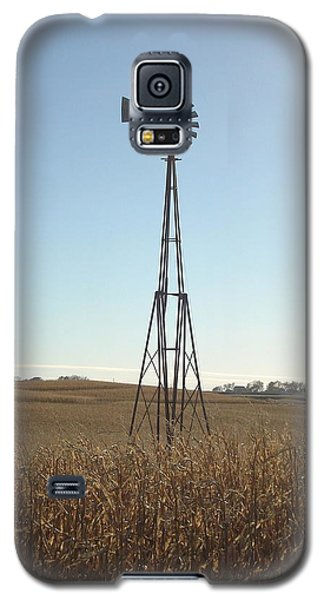 Galaxy S5 Case featuring the photograph Windmill by J L Zarek