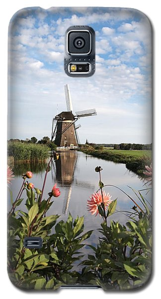 Windmill Landscape In Holland Galaxy S5 Case