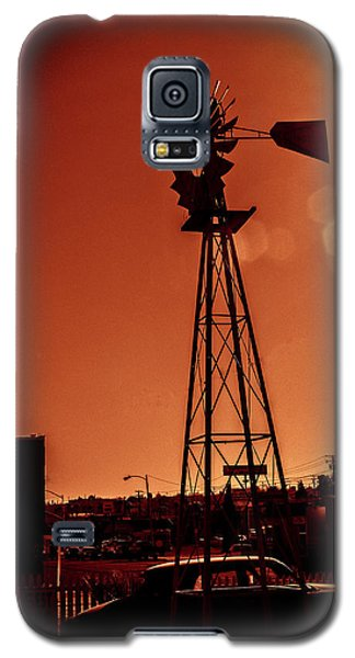 Galaxy S5 Case featuring the photograph Windmill On Route66 by William Havle