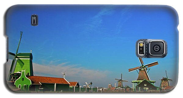 Galaxy S5 Case featuring the photograph Windmills At Zaanse Schans by Jonah  Anderson