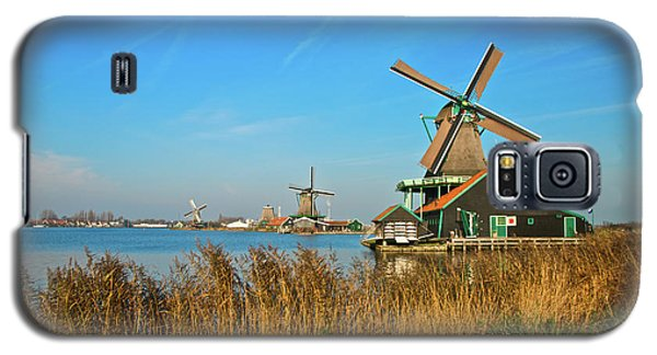 Galaxy S5 Case featuring the photograph Windmills On De Zaan by Jonah  Anderson