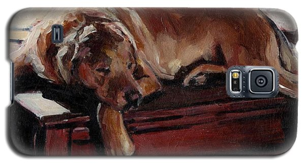 Galaxy S5 Case featuring the painting Window Dresser by Molly Poole
