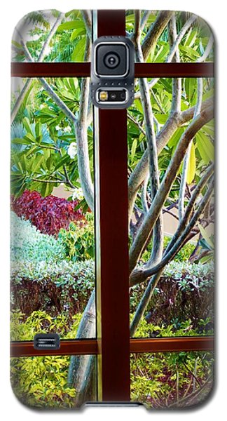 Galaxy S5 Case featuring the photograph Window Garden by Amar Sheow