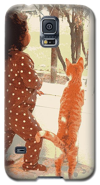 Galaxy S5 Case featuring the photograph Window Gazing  by Heidi Manly