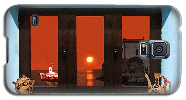Window Into Greece 4 Galaxy S5 Case