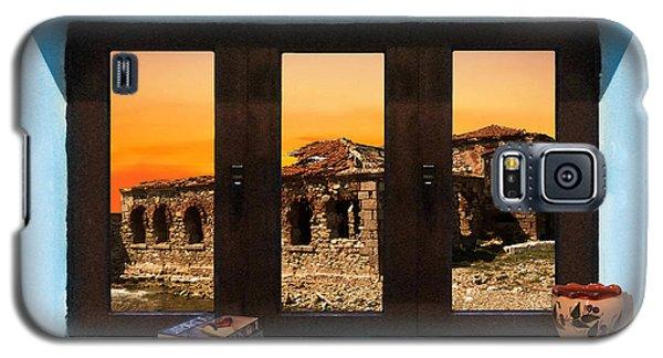 Window Into Greece 5 Galaxy S5 Case by Eric Kempson