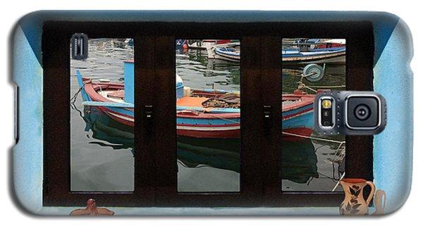 Window Into Greece 6 Galaxy S5 Case by Eric Kempson