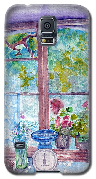 Galaxy S5 Case featuring the painting Window by Jasna Dragun
