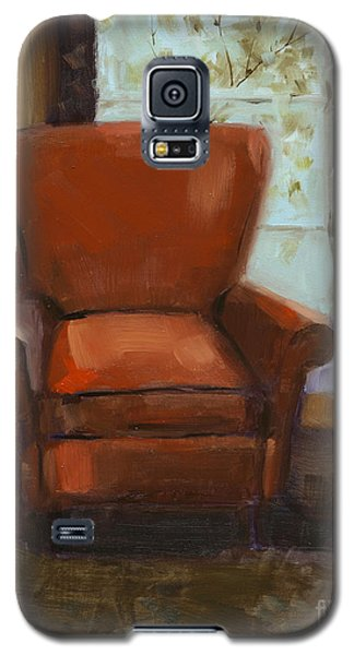 Galaxy S5 Case featuring the painting Window Seat by Nancy  Parsons