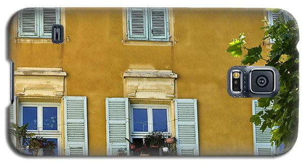 Galaxy S5 Case featuring the photograph Windowboxes In Nice France by Allen Sheffield