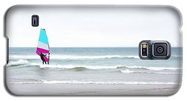 Windsurfer With Pink And Aqua Galaxy S5 Case