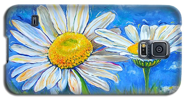Windswept Daisies Galaxy S5 Case by Lisa Fiedler Jaworski