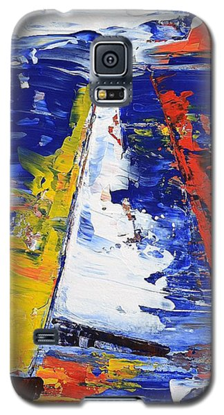 Galaxy S5 Case featuring the painting Windy Day At Sea by Kathleen Pio
