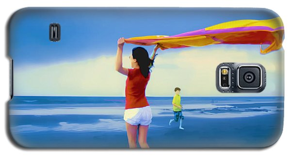 Children Playing On The Beach Galaxy S5 Case