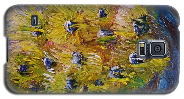 Galaxy S5 Case featuring the painting Windy by Laurie L