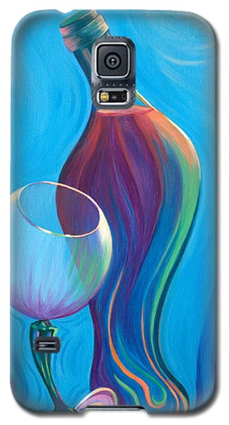 Galaxy S5 Case featuring the painting A Wine Affair by Sandi Whetzel