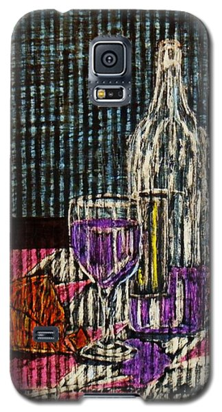 Galaxy S5 Case featuring the painting Wine And Cheese by Celeste Manning