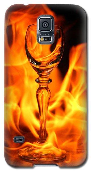 Wine Glass On Fire Galaxy S5 Case