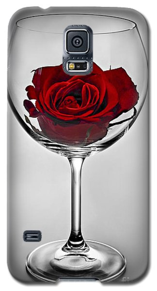 Wine Glass With Rose Galaxy S5 Case
