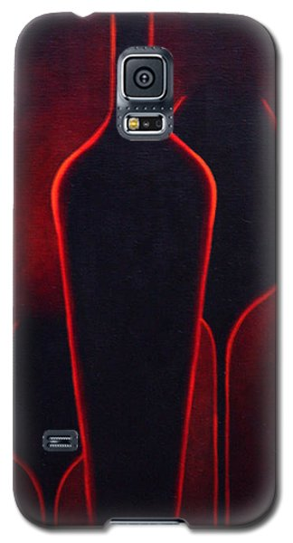 Galaxy S5 Case featuring the painting Wine Glow by Sandi Whetzel
