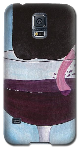 Wine Is Best Shared With Friends - Black Dog Galaxy S5 Case