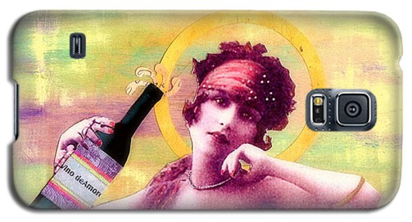 Galaxy S5 Case featuring the painting Wine Of Love by Desiree Paquette