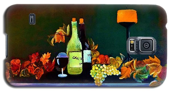 Galaxy S5 Case featuring the painting Wine On The Mantel by Lisa Kaiser
