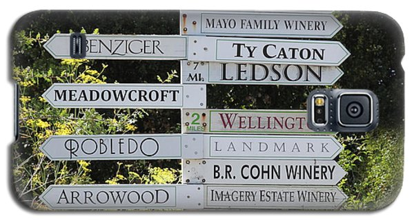 Winery Street Sign In The Sonoma California Wine Country 5d24601 Square Galaxy S5 Case