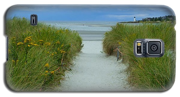 Wingaersheek Beach Path And Annisquam Lighthouse Galaxy S5 Case