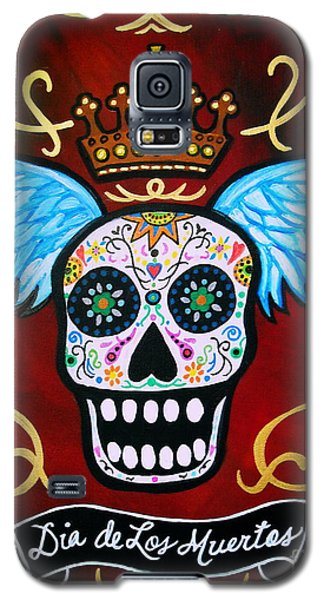 Winged Muertos Galaxy S5 Case by Pristine Cartera Turkus